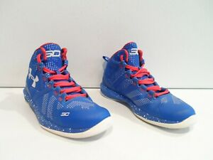 Under Armour Curry 2 Boy's Shoes Size 1Y Kids 1 GS EU 32 Blue Basketball 1270904