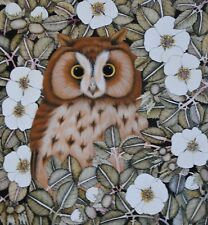 ORIGINAL PAINTING BY HELEN MORTLEY OF BROWN OWL AMONGST BRAMBLES, SIGNED