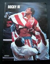 ROCKY IV 1985 Movie Theater Program Sylvester Stallone Talia Shire