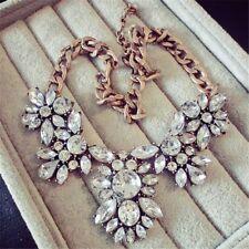 Style Statement Big Women Fashion Crystal Necklace Jewelry Rhinestone Vintage