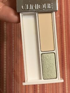 NEW Clinique Colour Surge Eye shadow Duo ~ Sparkling Sage / French Vanilla