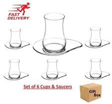 12pcs Tea Glasses Luxury Design Turkish Tea Glass Cay Bardagi Cups Saucers