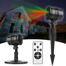 Laser Projektor Laserlicht Außen Strahler Garten Beleuchtung Weihnachten Deko