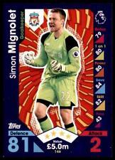 Match Attax 2016-2017 Simon Mignolet Liverpool Base card No. 146