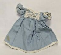 Vintage Authentic 1957 Vogue Ideal JILL Ginny Doll Dress Gown Blue White Lace