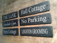 Laser Engraved Natural Slate House Name Number Sign Plaque - FAST FREE DELIVERY
