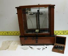 Vintage Christian Becker Chainomatic Pharmacy Balance Scale #1A w/Weights Nice!