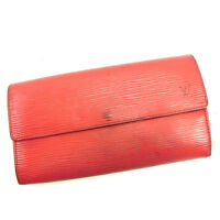 Louis Vuitton Wallet Purse Long Wallet Epi Red Woman unisex Authentic Used Y6834