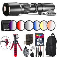 500mm Telephoto Lens for Canon EOS T6 / T6i + Triple Tripod Bundle - 16GB Kit