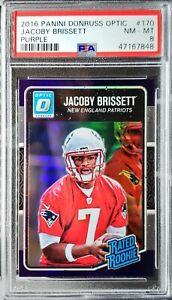 2016 Optic Jacoby Brissett Purple Prizm RC PSA 8 NM-Mint Patriots,Colts!!