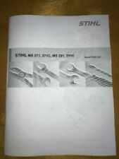 MS 271, 291, MS271 MS291 C Stihl Chainsaw Illustrated Parts List Diagram Manual