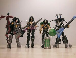 Kiss Ultra Action set 4 Simmons Frehley Criss Stanley McFarlane Toys 1997 Loose