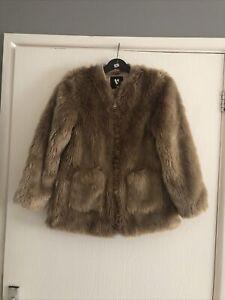 Girls - Coat Age 11 Years - Brown - Faux Fur - Casual - Very - Fabulous Coat