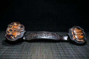 """12.8"""" China wood sculpture natural Bamboo carving RuYi sculpture"""