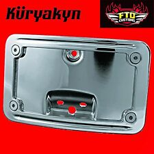 Kuryakyn Curved Laydown License Plate Mount for Softail with Taillight 3181