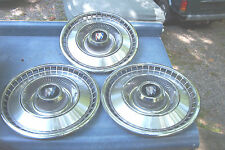 (3) OE 15 inch wheelcovers, 66 Buick Electra/Lesabre,40 slot,driver quality#1994