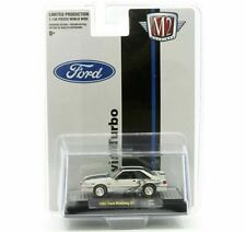 M2 Machines 164 1987 White Ford Mustang Gt Cobra Jet Twin Turbo 31500 Hs07