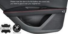 Rouge piquer 2X porte arrière accoudoir en cuir couvre pour seat leon 2013-2016 5 porte