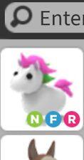 Roblox Adopt me Legendary Pet NEON FLY RIDE Unicorn Rare Virtual item