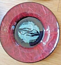 New Listing6 Vintage Minsok Coasters Mother of Pearl Lacquer Ware Herons in Original Box