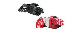 Alpinestars GP Tech Motorcycle Track Race Gloves Red Black