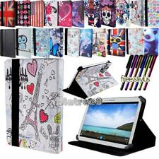For Various Samsung Galaxy Tab 2/3/4 Tablet -Smart Stand Leather Cover Case +pen