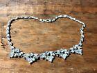 "Vintage BOGOFF Diamante Glass Rhinestone 17"" Necklace - Signed"