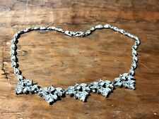 "🔷 Vintage BOGOFF Diamante Glass Rhinestone 17"" Necklace - Signed"