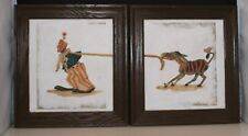 Vintage Original Circus Illustrations Pauline James Watercolor Ink Clown Donkey