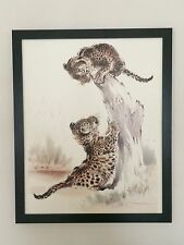 Ralph Thompson, 20''x16'' frame, framed Leopard Cubs, leopard posters