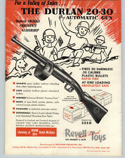 1952 PAPER AD Revell Toy Durlan 20-30 Automatic Gun Machine Back Fire Ford
