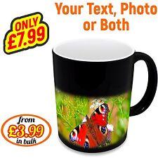 Personalised Colour Changing Mug Magic WOW Custom Photo Cup Coffee Text Bulk