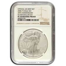 2006-P NGC PF70 20th Anniversary Reverse Proof Silver Eagle One Dollar Coin