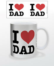 I HEART DAD 11 OZ COFFEE MUG FATHERSDAY GIFT LOVE HERO PAPA PRESENT ROLE MODEL!!