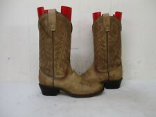 Wrangler Marble Brown Leather Vintage Cowboy Boots Womens Sz 6 M Style 4166 USA