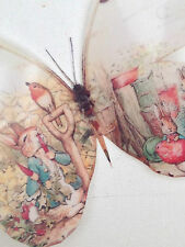 Beatrix Potter Peter Rabbit 3D 4 Wall Sticker Butterflies Bedroom Accessories C