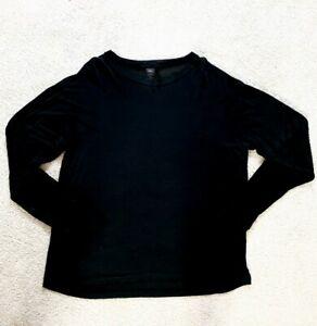 REI Men's Silk Long Underwear Crew Shirt BLACK Base Layer Size XXL