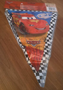 2.3m Children Kids Birthday Party Bunting Flag Banners  Decoration Disney Cars