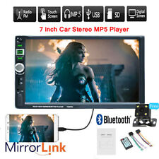 7'' 2 DIN Car MP5 Player FM Touch Radio USB GPS Bluetooth Head Unit Rear Camera