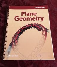 Abeka Plane Geometry Solution Key Grade 11 CURRENT Ed Home School Geometry