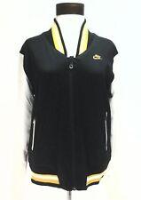 NIKE Satin REVERSIBLE Black/White/Gray Vintage Varsity BOMBER Jacket Womens L
