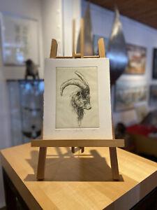 Walter Herzog Radierung/Grafik ''Steinbock''
