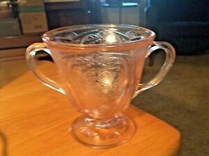 Antique Rose Colored Sugar Bowl