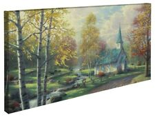 Thomas Kinkade The Aspen Chapel 16 x 31 Gallery Wrapped Canvas
