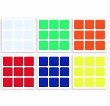 Half-Bright Vinyl Z-Stickers Replacement for 57mm 3x3 Cube