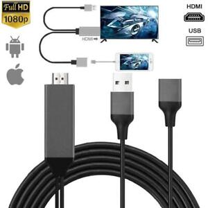 6FT 1080P HDMI Mirroring Cable Phone to TV HDTV Adapter For iPhone iPad Android
