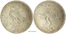 MEXIQUE    25  PESOS  ARGENT  GRAND MODULE  JEUX OLYMPIQUES À MEXICO  1968 , SUP
