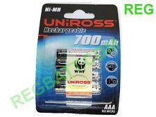 6 Piles rechargeables Uniross AAA 700mah NiMH Telephone