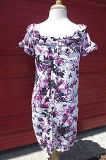 Jean Paul Gaultier Target Parachute Purple White Pop Art Flower Dress Sz Small