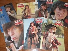 DOCTOR WHO set of 7 rare vintage greeting cards Tom Baker Fourth Doctor